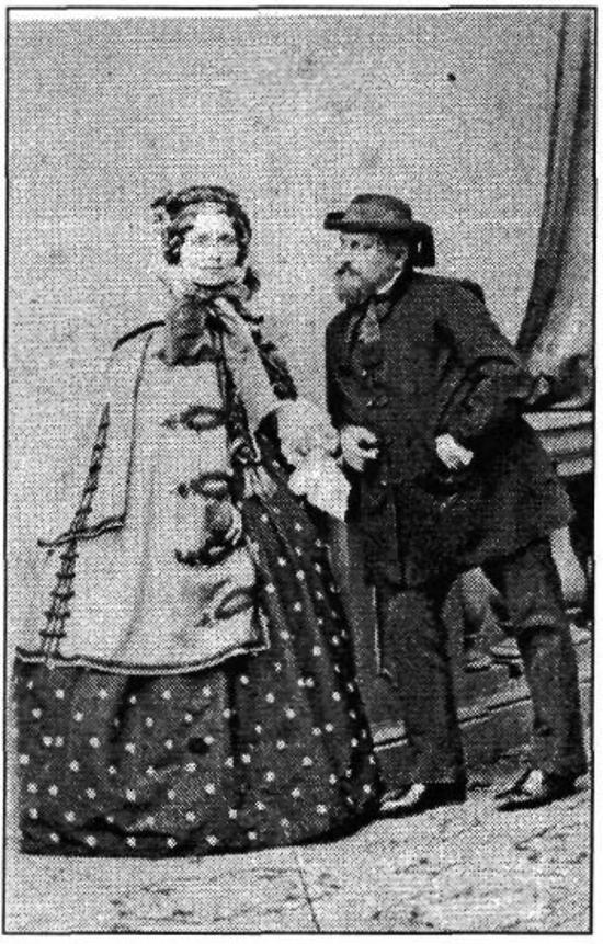 Gróf Wenkheim József és neje, Jankovich Stefánia (egykori fotó a Ladics-család gyűjteményi anyagából)